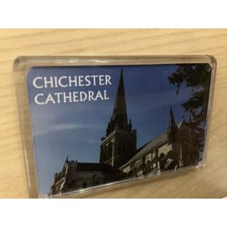 Fridge Magnet. Chichester Cathedral. West view