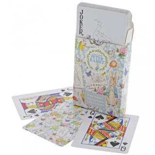 Peter Rabbit playing cards